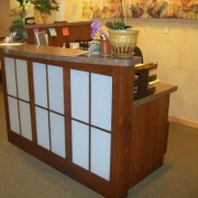 Specialty reception counter